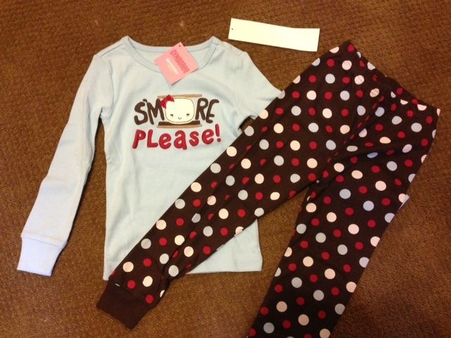 NEW NWT Gymboree Girl S'mores Please Long Johns Pajamas PJ 4