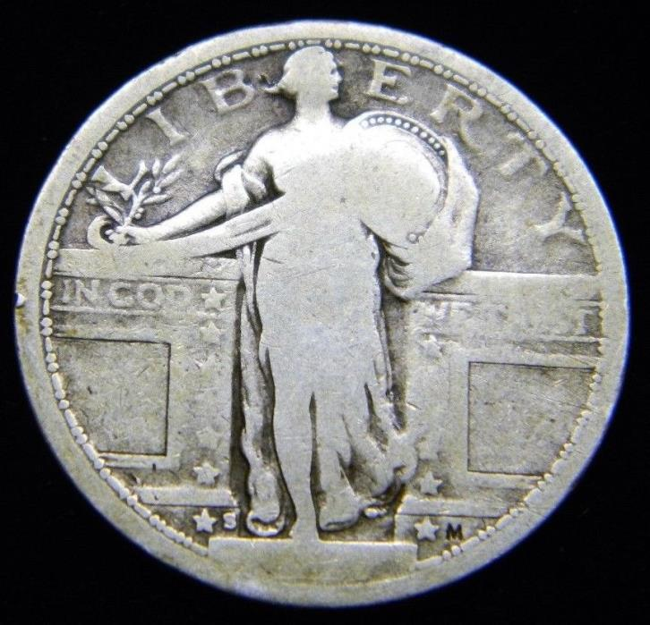1917 S  Standing Liberty Quarter Type 1