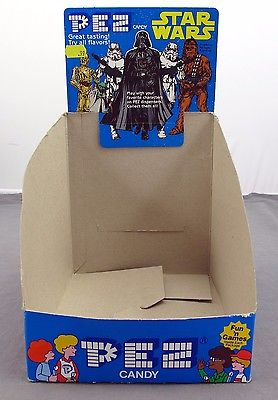 Star Wars Vintage Pez Candy Dispensers Factory Display Box Case RARE 1997 Lucas