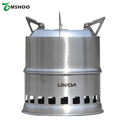 Lightweight Portable Stainless Steel Camping Stove for Outdoor Cooking