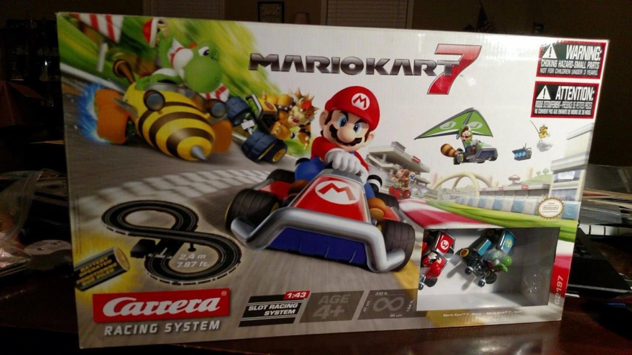 Carrera Racing System Mario Kart 7 1:43 Slot Racing Mario Yoshi  NEW