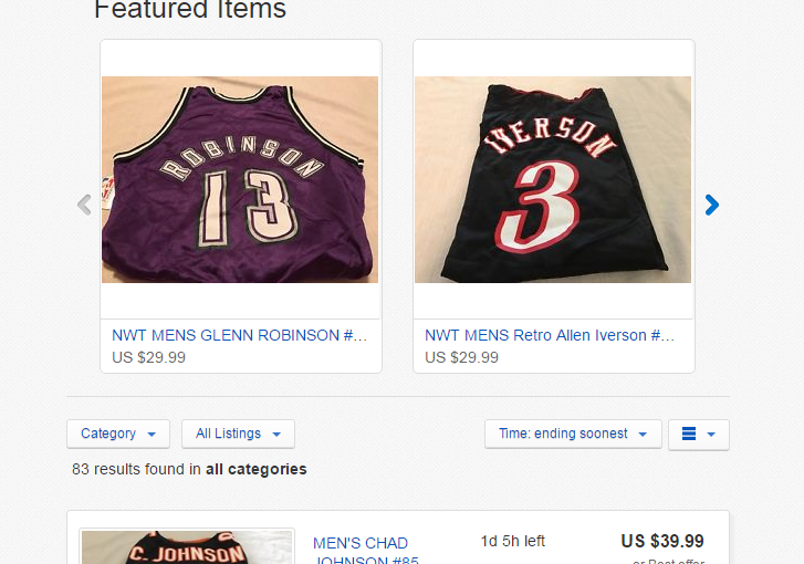 EBAY STORE LARGE LOT OF 90+ OFFICIALLY LICENSED NBA, NHL, NFL,MLB JERSEYS & MORE