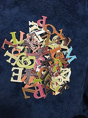 197 Chipboard Letters Alpha Multi Color 1.5 inches Scrapbook Paper Craft NEW