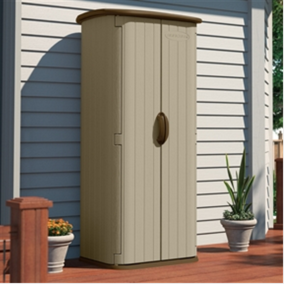 Durable Double Wall Resin Outdoor Tools Storage Shed Garden Backyard