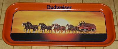 1992 Budweiser Beer Clydesdale Horses with Wagon Tin Tray
