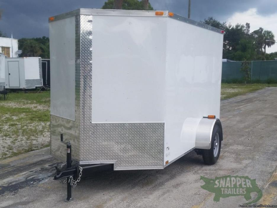 NEW 6 ftx10 White ATV Trailer w/32 in. Side Door & Additional Height!