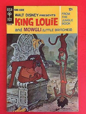 GOLD KEY COMICS -   KING LOUIE AND MOWGLI  1 - DISNEY MOVIE COMIC - HIGH GRADE