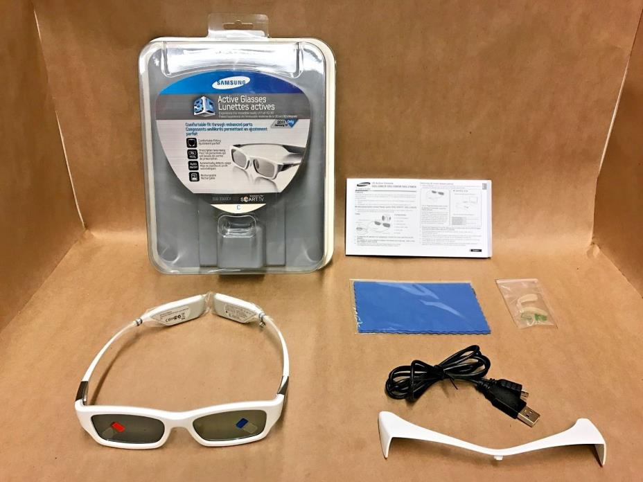Samsung SSG-3300CR 3D Active Glasses - White (Compatible with 2011 3D TVs)
