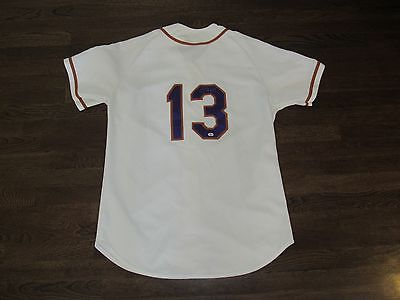 JIM LEYRITZ NEWARK BEARS 2001 GAME USED SIGNED AUTO JERSEY & PANTS BEARS LETTER