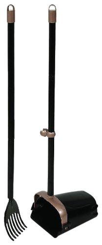 Arm & Hammer 71034 Swivel Bin and Rake, Black/Penny