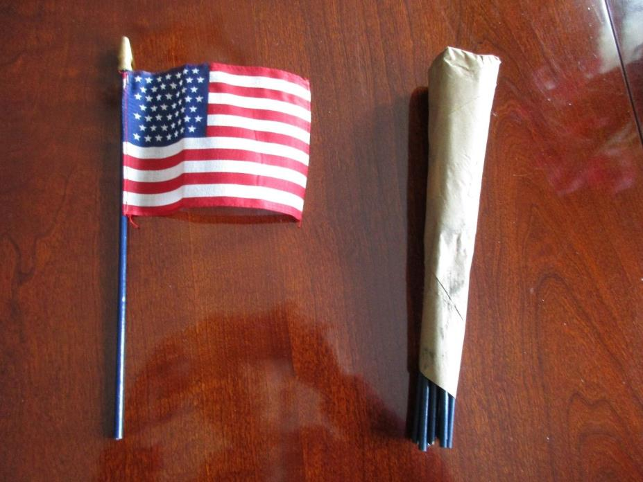 A Dozen 49 Star American Flags In Original Packaging Spear Head 1959 Vintage