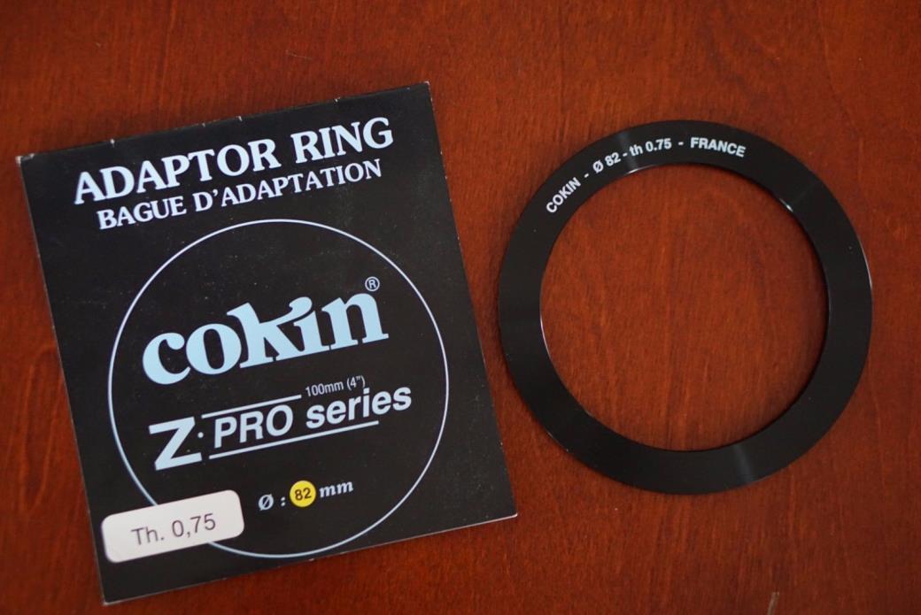 cokin z pro series adaptor ring 82mm