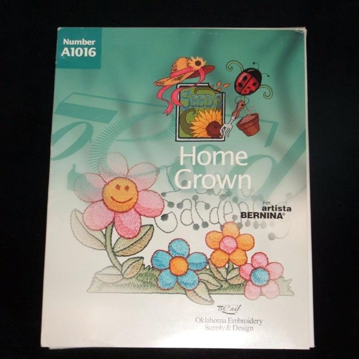 Home Grown Embroidery Card A1016 for Artista Bernina Oklahoma Supply and Design