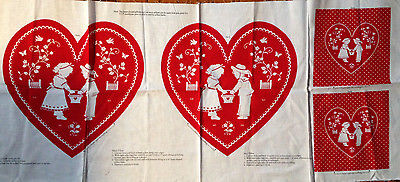 LITTLE SWEETHEART VALENTINE PILLOW FABRIC PANEL