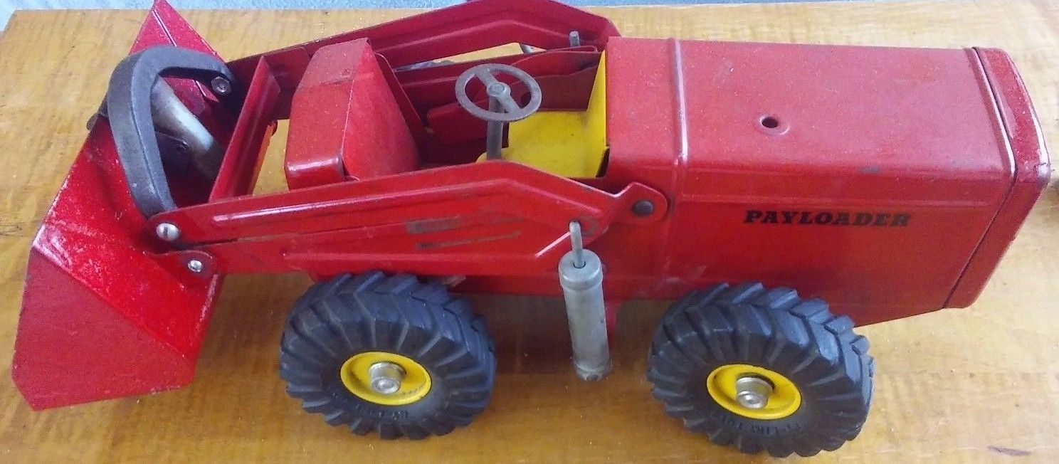 Awesome Antique Pressed Steel Toy Hough Front End PAYLOADER  Ny-Lint 1950s Nice!