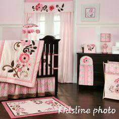 Kidsline Juliana Baby Girl Crib Bedding Nursery Set (York SC)