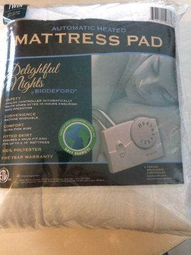 Biddeford Electric Heated Mattress Pad Delightful Nights - Size TWIN