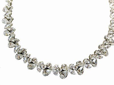 DIAMOND NECKLACE MULTI-SHAPE DIAMOND SET PRETTY DIAMOND NECKLACE SET DIAMOND