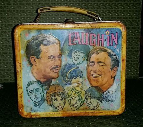 Laugh In Helmet 1960's Tv Show Metal Lunch Box