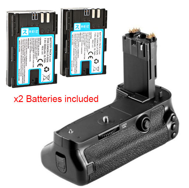 Battery Grip for Canon EOS 5D Mark 4 IV 5DIV Vertical + Two 2 LP-E6 Batteries