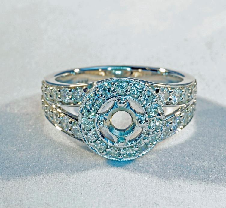 Diamond Wedding Engagement Semi Mount Ring! CUSTOM MADE! NEVER WORN!