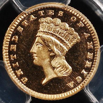 1888 Indian Princess Gold Dollar PCGS PR65DCAM