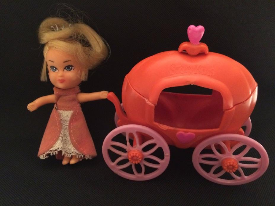 Vintage Storykins Cinderella Doll and Pumpkin Carriage