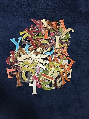 90 Chipboard Letters Alpha Multi Color 1.5 inches Scrapbook Paper Craft NEW
