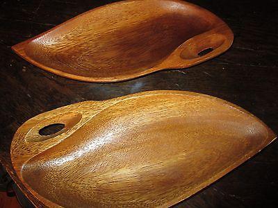Set - 2 VTG Alii Woods Hawaii wood snack nut dishes 11