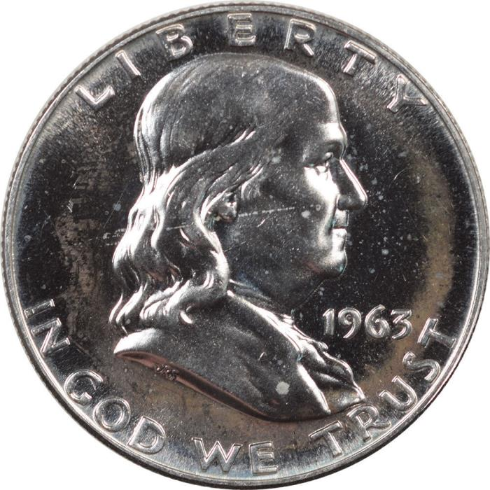 1963 FRANKLIN HALF DOLLAR - PROOF