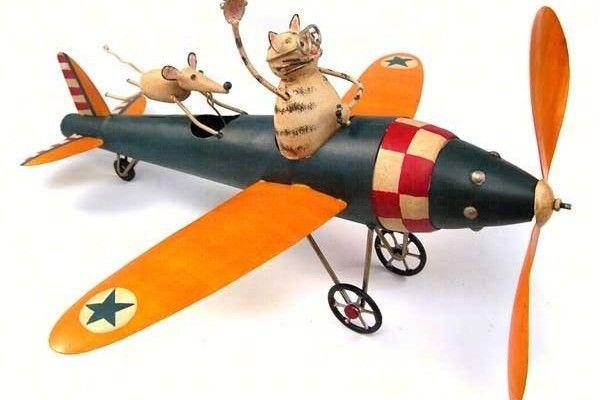 Cat Aviator Whirligig