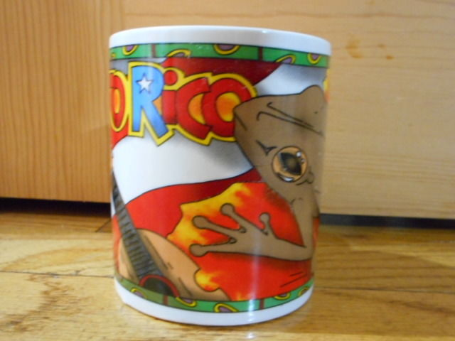 Puerto Rico Coffee Tea Mug Cup Cup Hot Chocolate Flag Cooking Frog