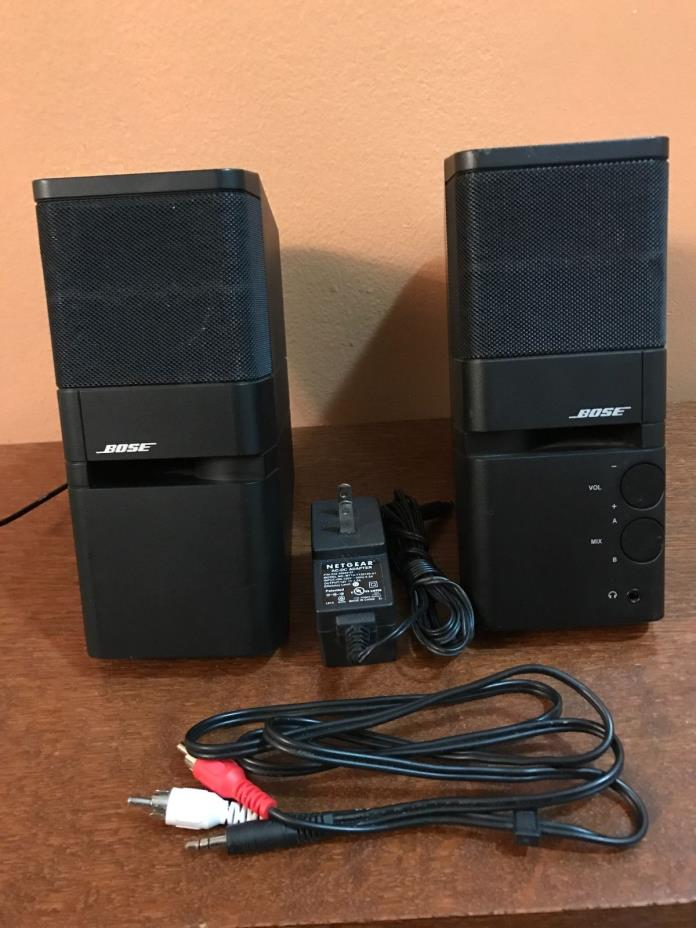 bose roommate powered speakers for sale classifieds. Black Bedroom Furniture Sets. Home Design Ideas
