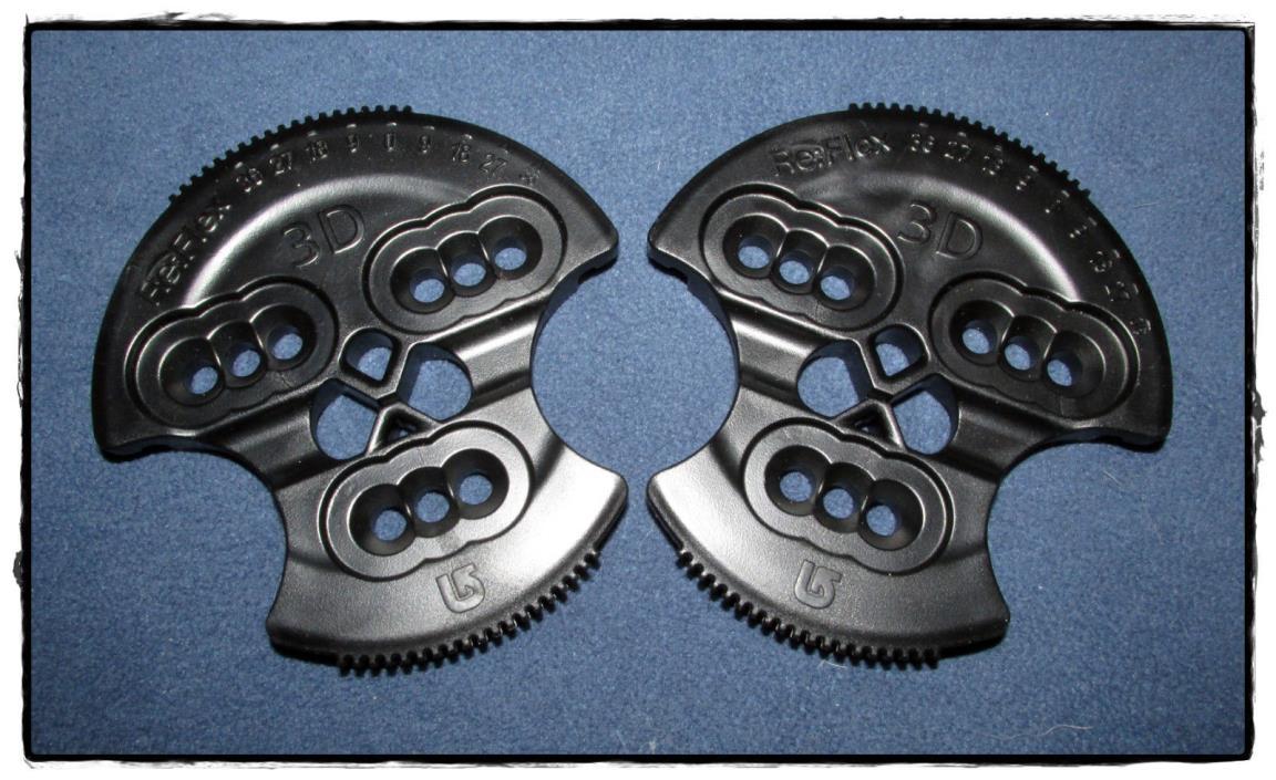 nice NEW Burton 3D Reflex snowboard binding disc pair - perfect shape!!