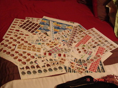 Unused Lot US Postage Stamps Face Value $413.80