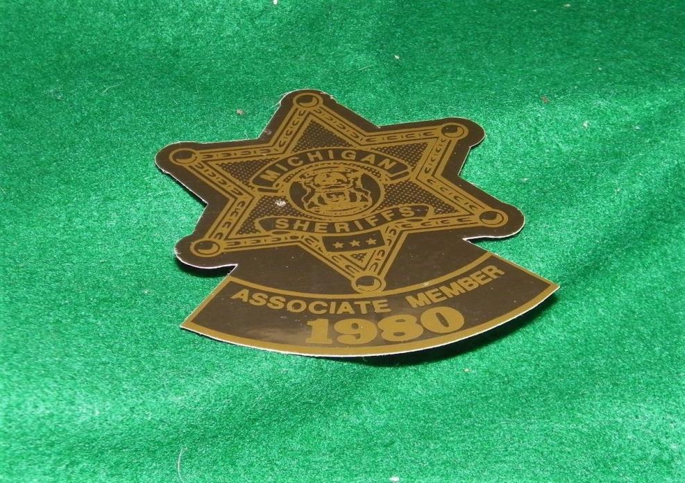 old MICHIGAN SHERIFFS window sticker 1980
