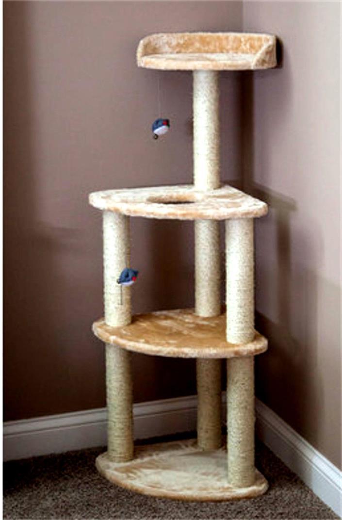 Cat Tree Pet Supplies Carpeted Cat Lovers Supplies Scratching Post Pet-habitats