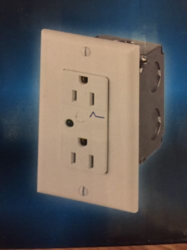 Duplex Surge Protector Outlet CE TECH Protection Hard Wire Receptacle Light