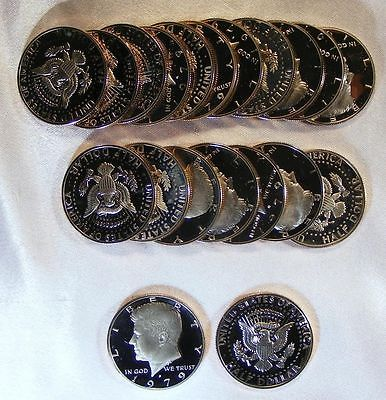 1979-s PROOF KENNEDY HALF DOLLAR Roll 20 Coins