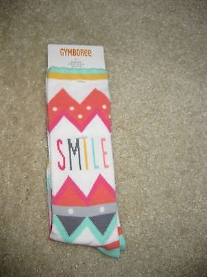 Gymboree Wild for Horses Smile Knee Socks… size 3-4  NWT