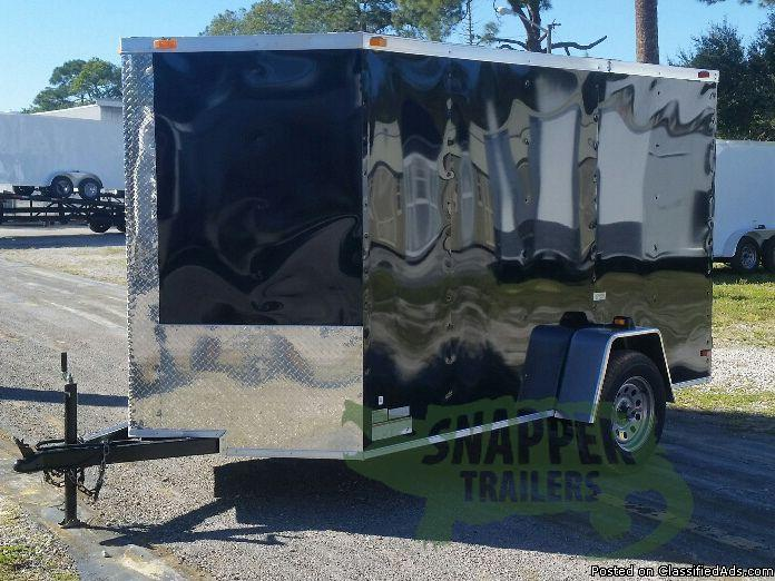 Motorcycle Trailer 6x10 with Single Axle and Bar Lock Side Door - Sharp looking...