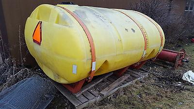1,000 Gallon Plastic Elliptical Water Tank Water Truck Leg Tank