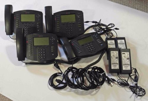 Lot of 4 Polycom Soundpoint IP 500 VoIP Phones