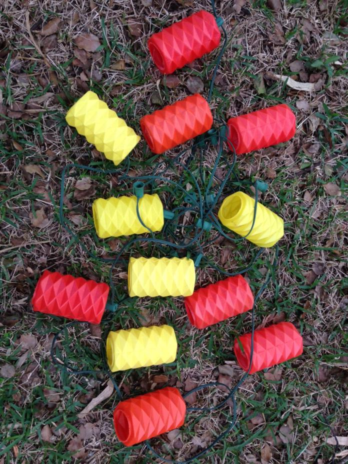 Vintage Riviera / Lidco Party Patio String Lights Red & Yellow Only - 2 strands