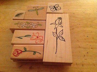 Rubber Stamps Spring Summer Katie&co Hampton Art Stamps Crafts Flowers Butterfly
