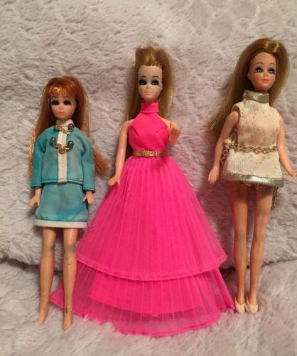 Vintage Original Topper Dawn Dolls 1970-Lot Of 3