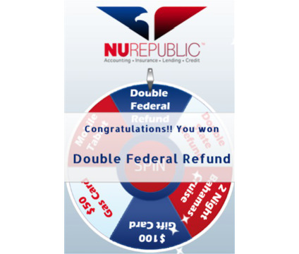 Spin the wheel for a chance to DOUBLE your federal tax refund