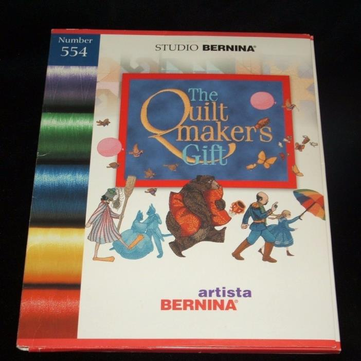 Studio Bernina The Quiltmakers Gift Embroidery Card 554 Artista
