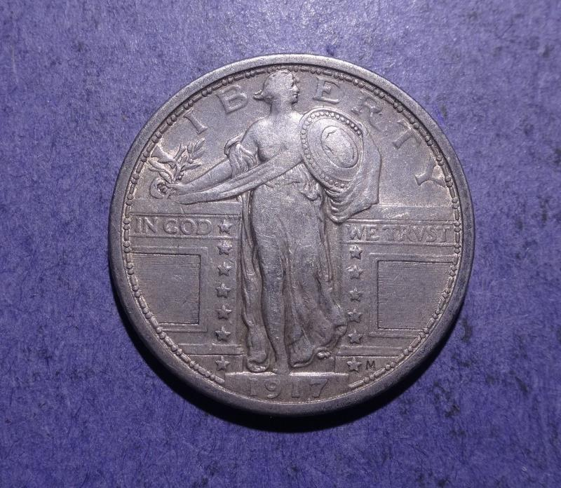 1917 Type I Standing Liberty Quarter XF