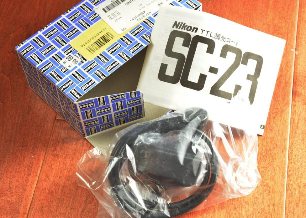 NEW! Nikon SC-23 Synch Cord F3P F4 F5 Unit WORKS w SB-11 SB14 FE2 FM2 TTL Film